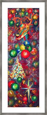 Christmas Orbs Framed Print by Peter Bonk