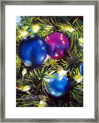Christmas Ornaments Framed Print by Carole Haslock