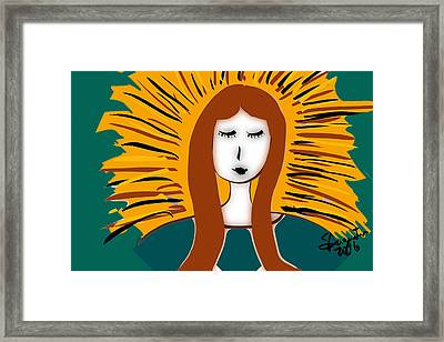 Christmas - Our Lady Of Guadalupe Framed Print by Sharon Augustin