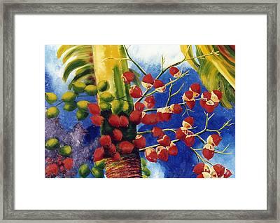 Christmas Palm Framed Print by Lisa Boyd