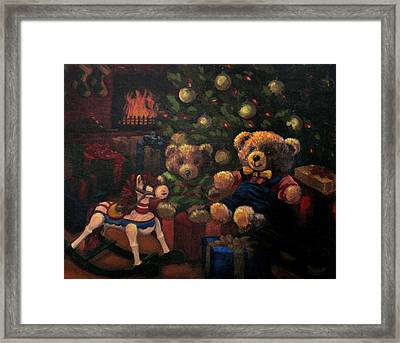 Framed Print featuring the painting Christmas Past by Karen Ilari