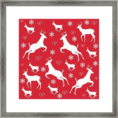 Christmas Pattern Framed Print