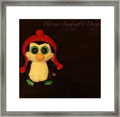 Christmas Penguin Framed Print by John Strapp