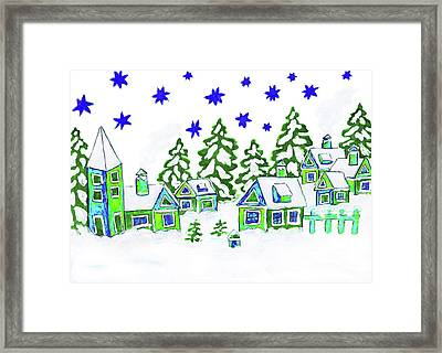 Christmas Picture, Painting Framed Print