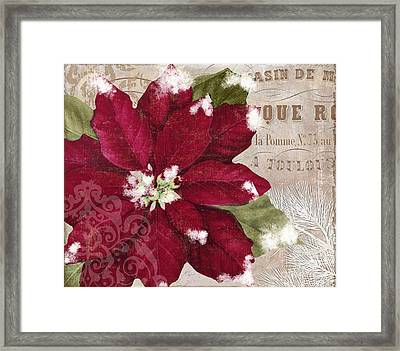 Christmas Poinsettia Framed Print by Mindy Sommers