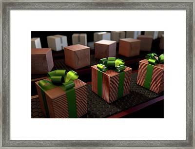 Christmas Production Line Framed Print by Allan Swart