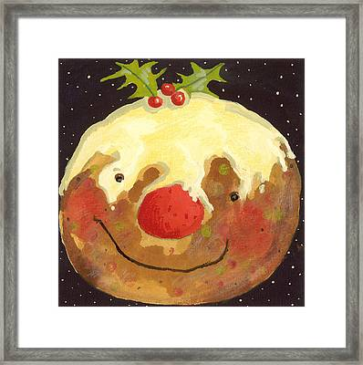 Christmas Pudding  Framed Print by David Cooke