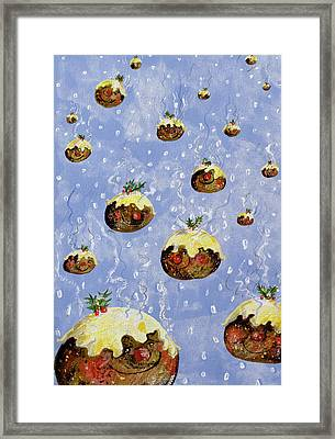 Christmas Puddings Framed Print by David Cooke