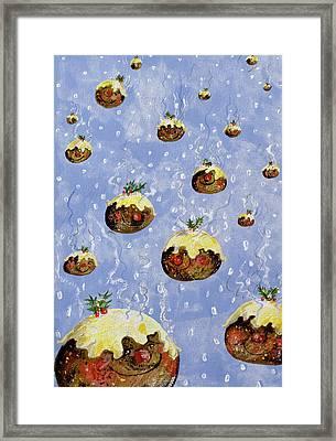 Christmas Puddings Framed Print