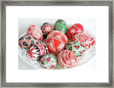 Christmas Pysanky Framed Print