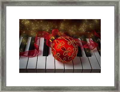 Christmas Red Ornament Framed Print by Garry Gay