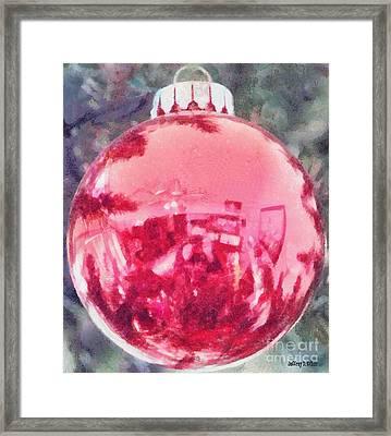 Christmas Reflected Framed Print