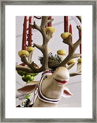 Framed Print featuring the photograph Christmas Reindeer Games by Betty Denise