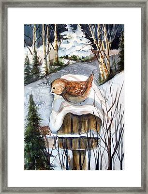Christmas Roof Framed Print by Mindy Newman