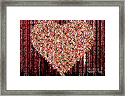 Christmas Sales Matrix Collage Framed Print