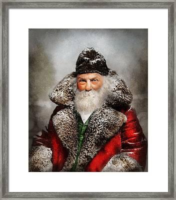 Christmas - Santa - Saint Nicholas 1895 Framed Print by Mike Savad