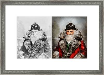 Christmas - Santa - Saint Nicholas 1895 - Side By Side Framed Print by Mike Savad