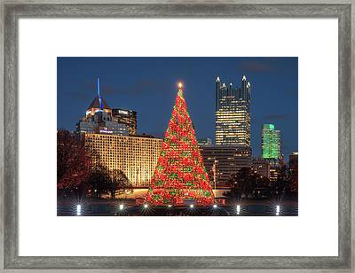 Framed Print featuring the photograph Christmas  Season In Pittsburgh  by Emmanuel Panagiotakis