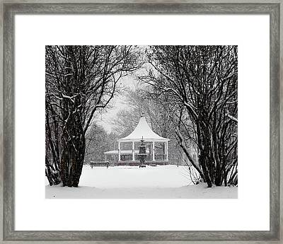 Christmas Season In The Park Framed Print