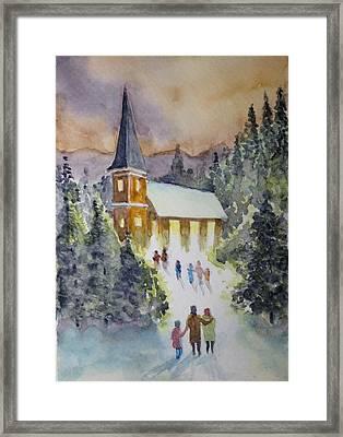Christmas Service Framed Print