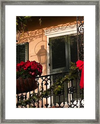 Christmas Shadow Framed Print by Jeanne  Woods