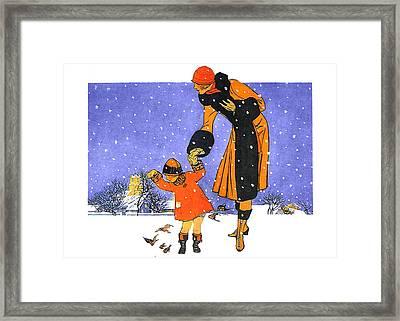 Christmas Snow Framed Print by Munir Alawi