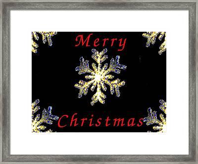 Christmas Snowflakes Framed Print