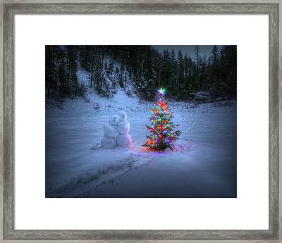 Christmas Spirit At Grouse Creek Framed Print
