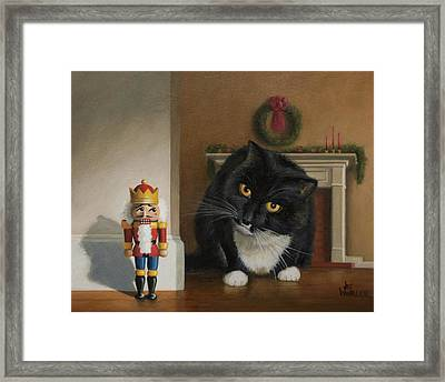 Framed Print featuring the painting Christmas Stalking by Joe Winkler