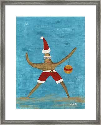 Christmas Starfish Framed Print