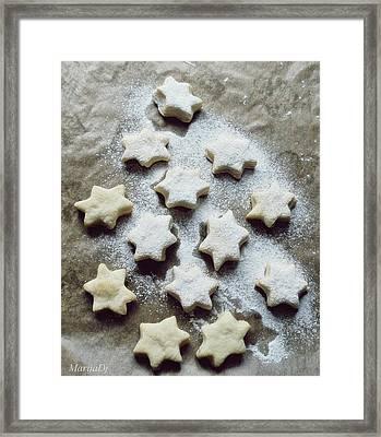 Christmas Stars Framed Print by Marija Djedovic