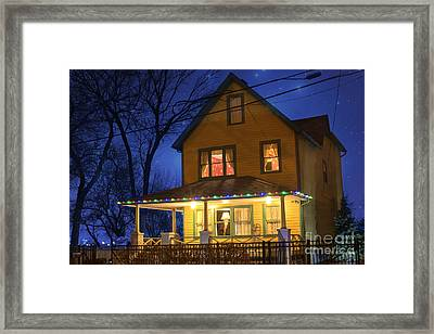 Christmas Story House Framed Print by Juli Scalzi