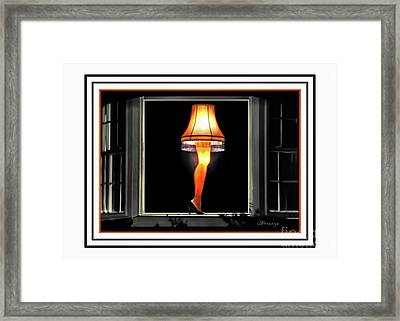 Christmas Story Leg Card Framed Print by Jennie Breeze