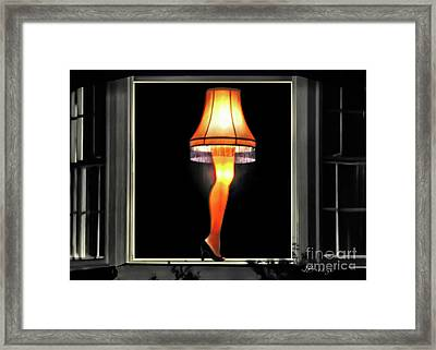 Christmas Story Leg Lamp Framed Print by Jennie Breeze