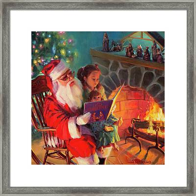 Framed Print featuring the painting Christmas Story by Steve Henderson