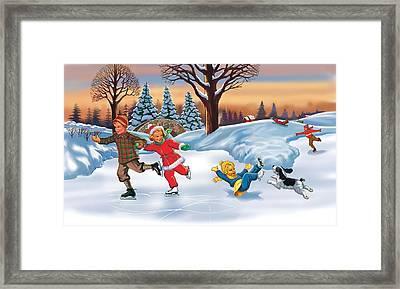 Christmas Story Framed Print by Valer Ian