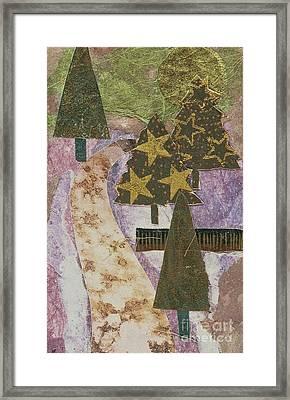 Christmas Stroll Card Framed Print by Sharon Eng