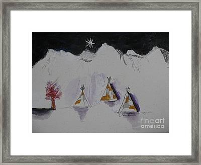 Christmas Teepees Framed Print by James SheppardIII