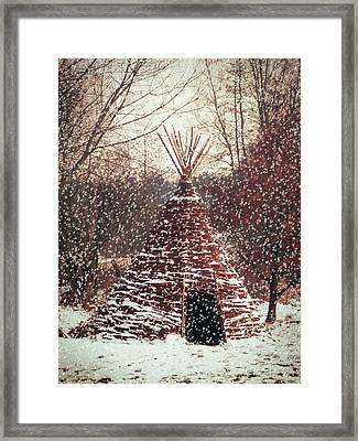 Christmas Tent Framed Print by Wim Lanclus