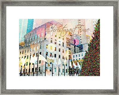 Christmas Time Framed Print by Diana Angstadt
