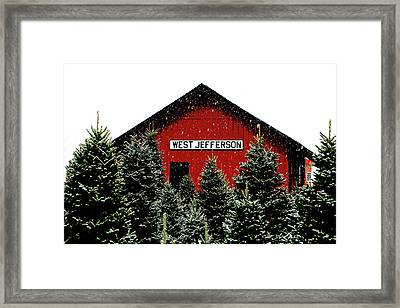 Christmas Town Framed Print by Dale R Carlson