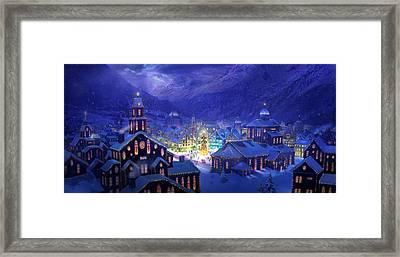 Christmas Town Framed Print by Philip Straub