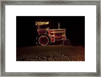 Christmas Tractor   Framed Print