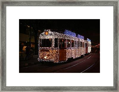 Christmas Tram Framed Print