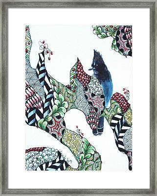 Christmas Treats For Mr. Jay Framed Print by Wendy Mould