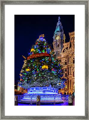 Christmas Tree At Philly City Hall Framed Print