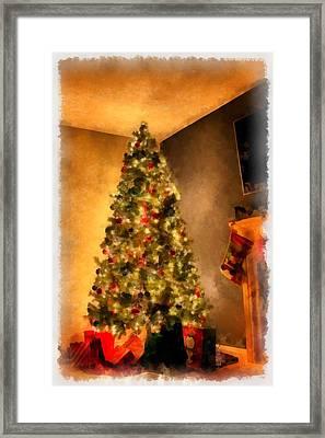 Christmas Tree Framed Print by Esoterica Art Agency