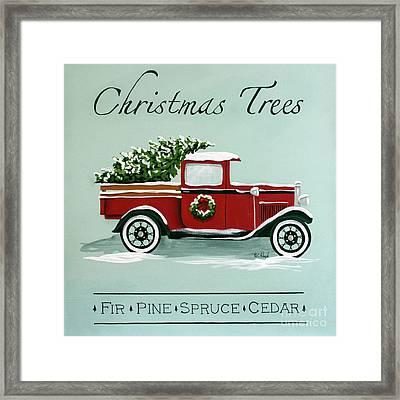 Christmas Tree Farm Sign  Framed Print