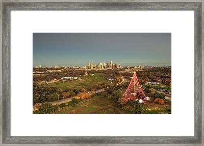 Christmas Tree In Austin Framed Print