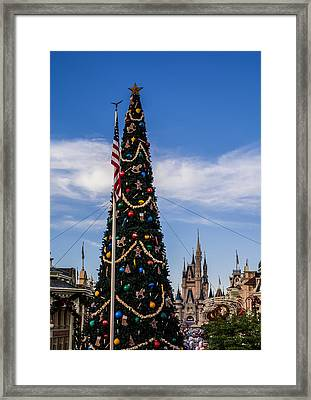 Christmas Tree In Magic Kingdom Framed Print